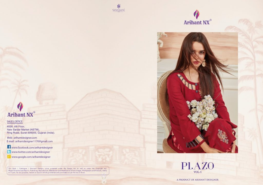 Arihant Plazo Vol 1 Designer Plazzo set Latest Catalog Wholesale price Surat supplier - IMG 20190515 WA0217 1024x722 - Arihant Plazo Vol 1 Designer Plazzo set Latest Catalog Wholesale price Surat supplier