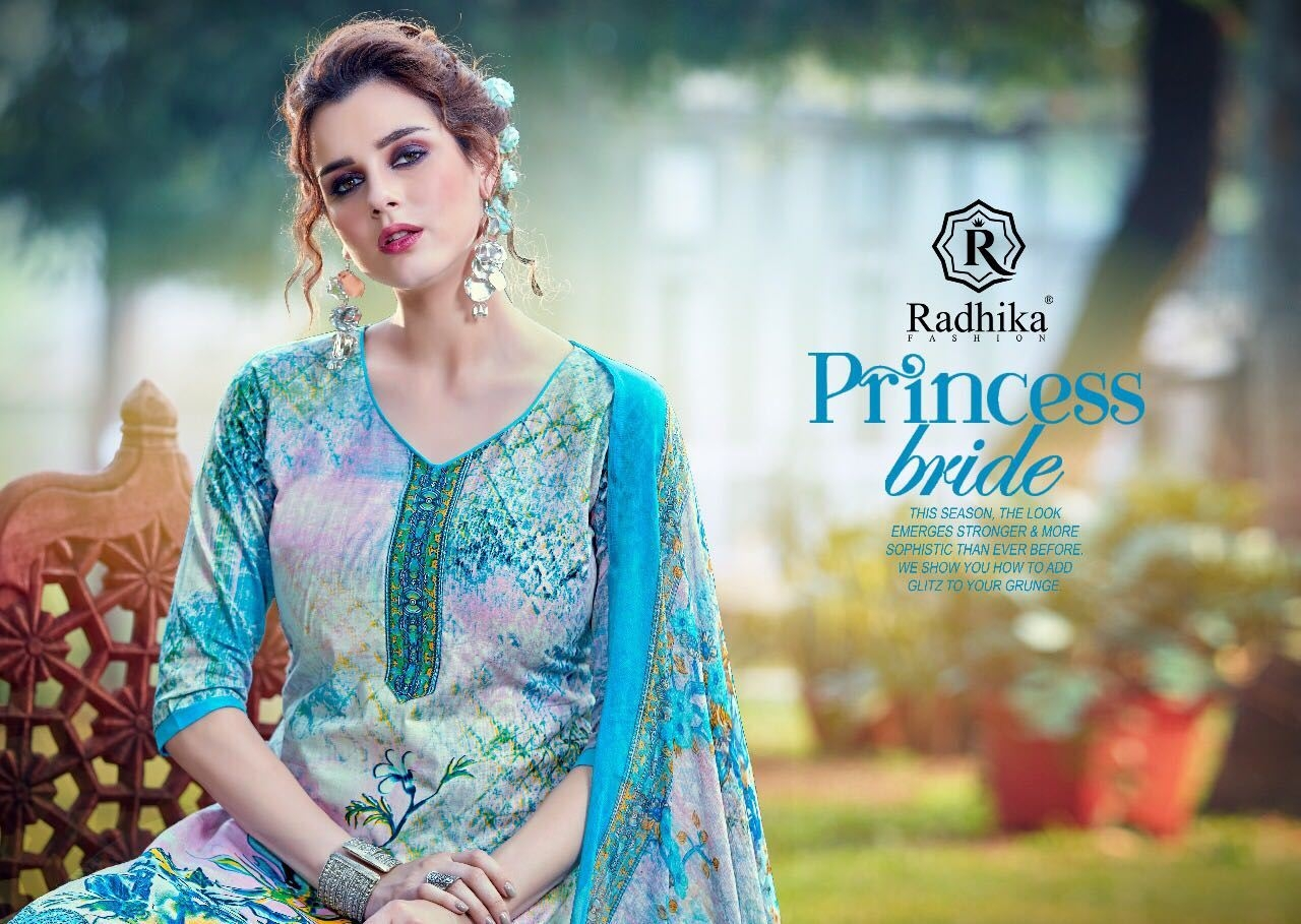 Radhika azara vol 24 printed cotton dress materail Supplier