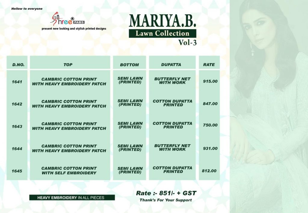 Shree Fabs Mariya B Lawn Collection vol 3 Cotton pakistani Suits dealer - Shree Fabs Mariya B Lawn Collection Vol 3 Cotton Pakistani Suits Dealer 13 1024x709 - Shree Fabs Mariya B Lawn Collection vol 3 Cotton pakistani Suits dealer Shree Fabs Mariya B Lawn Collection vol 3 Cotton pakistani Suits dealer - Shree Fabs Mariya B Lawn Collection Vol 3 Cotton Pakistani Suits Dealer 13 1024x709 - Shree Fabs Mariya B Lawn Collection vol 3 Cotton pakistani Suits dealer