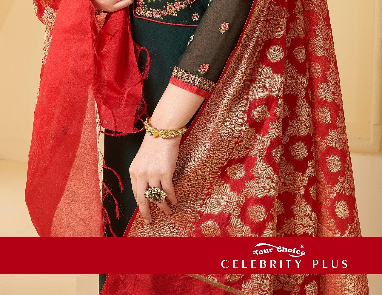 Your choice celebrity plus party wear salwar suit wholesaler online