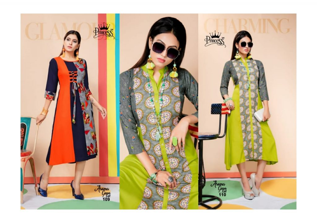 princess aroma gown caf fancy stylish rayon kurti catalog wholesale price surat best rate - princess aroma gown caf fancy stylish rayon kurti catalog wholesale price surat best rate 2 1024x723 - Princess Aroma Gown CAF fancy Stylish rayon Kurti Catalog wholesale price Surat best rate