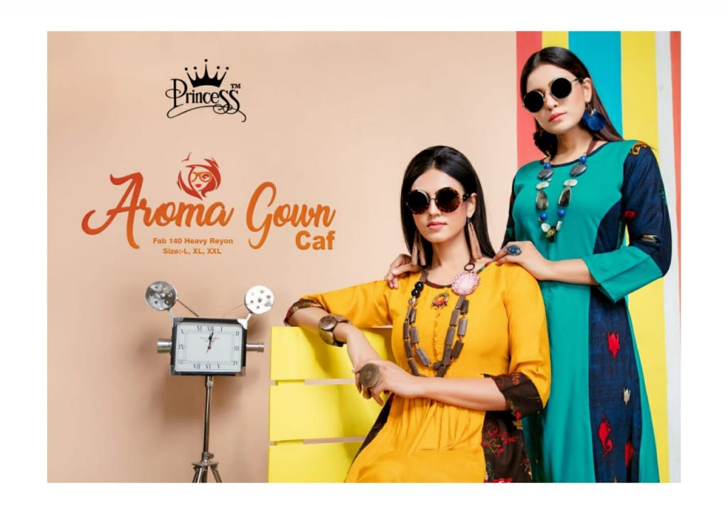 princess aroma gown caf fancy stylish rayon kurti catalog wholesale price surat best rate - princess aroma gown caf fancy stylish rayon kurti catalog wholesale price surat best rate 3 1024x723 - Princess Aroma Gown CAF fancy Stylish rayon Kurti Catalog wholesale price Surat best rate