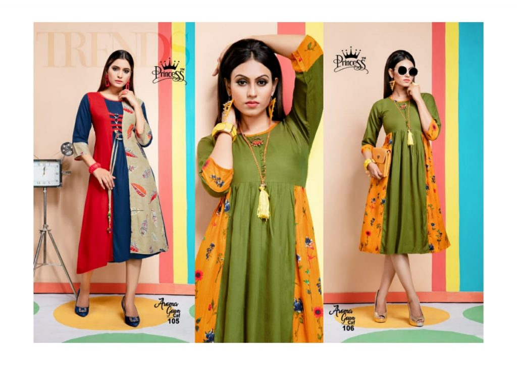 princess aroma gown caf fancy stylish rayon kurti catalog wholesale price surat best rate - princess aroma gown caf fancy stylish rayon kurti catalog wholesale price surat best rate 4 1024x723 - Princess Aroma Gown CAF fancy Stylish rayon Kurti Catalog wholesale price Surat best rate