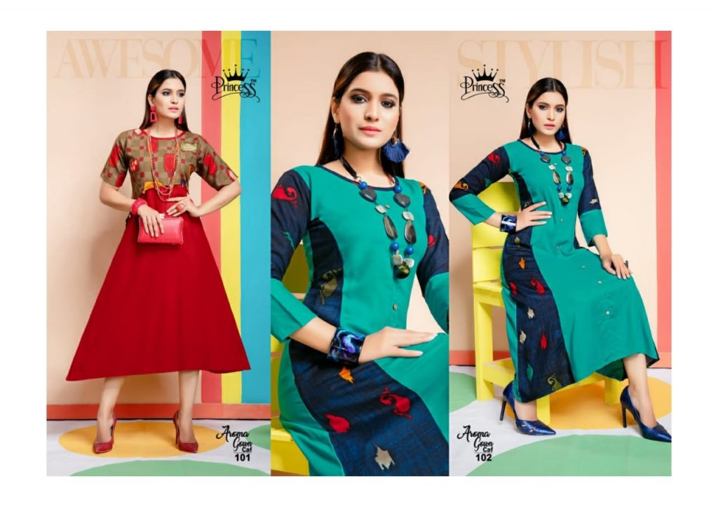 princess aroma gown caf fancy stylish rayon kurti catalog wholesale price surat best rate - princess aroma gown caf fancy stylish rayon kurti catalog wholesale price surat best rate 7 1024x723 - Princess Aroma Gown CAF fancy Stylish rayon Kurti Catalog wholesale price Surat best rate